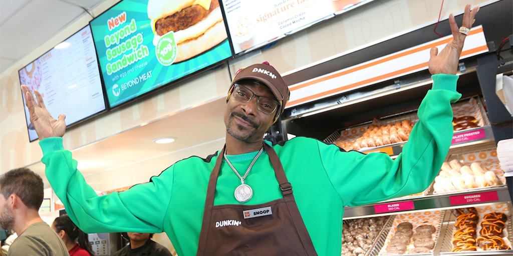 Snoop Dogg launches Vegan Sausages at Dunkin