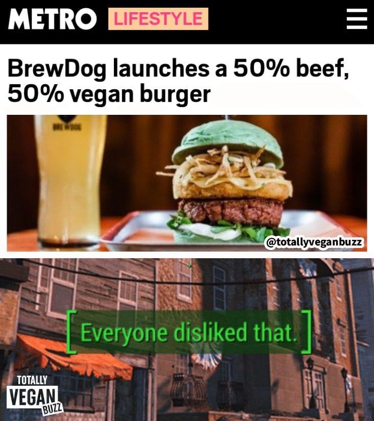 brewdog hybrid burger