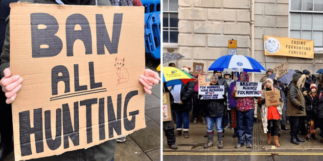 Animal rights groups vow to end cruel Boxing Day hunts even as supporters throng the event