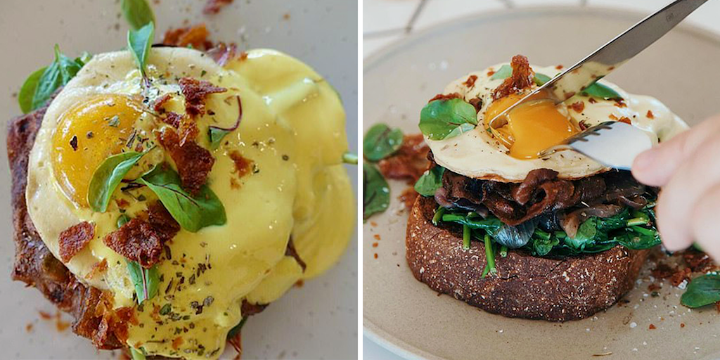 Australian restaurant launches first plant-based Eggs Benedict breakfast with an 'egg' made from coconut and pumpkin