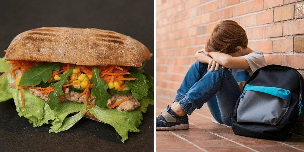 Bullies at school target a 11-year-old for being a vegan, 'shove tuna melt in his face' and 'order him to eat grass'
