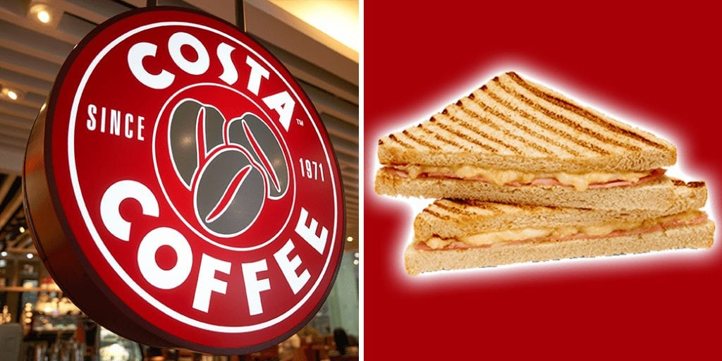 Costa coffee's vegan cheese and ham toastie to launch in January