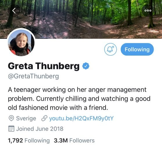 Greta Thunberg ridicules Donald Trump with his own tweet