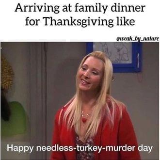 Happy needless turkey murder day