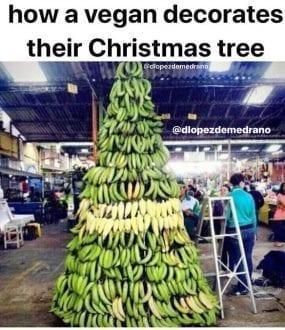 How a vegan decorates their Christmas tree