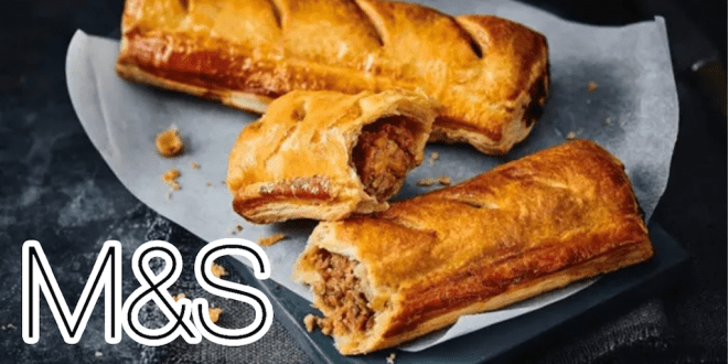 M&S to sell hot plant-based sausage rolls in UK outlets