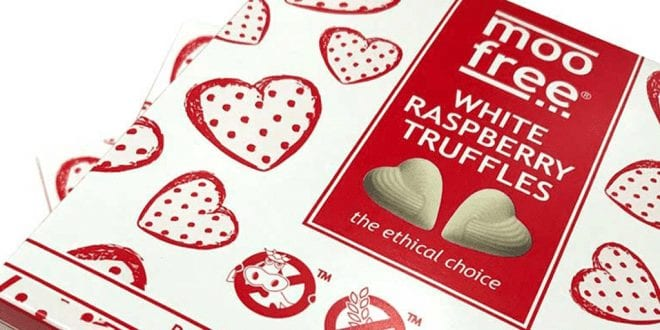 Moo Free to launch vegan white raspberry truffles
