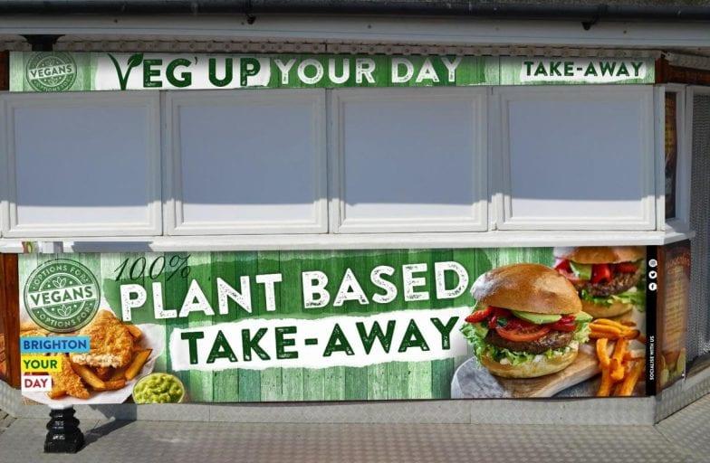 VEG UP brighton pier plant based take away
