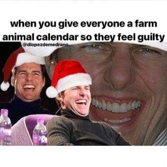 When you give everyone a farm animal calendar