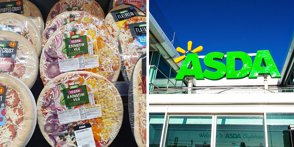 Asda Launches New Limited Edition Vegan Rainbow Pizza To
