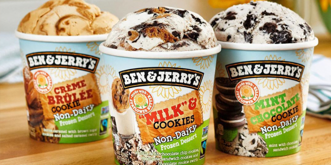 Ben & Jerry's launches non-dairy frozen desserts made with sunflower butter