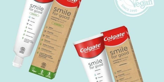 Colgate launches two vegan toothpastes in recyclable tubes