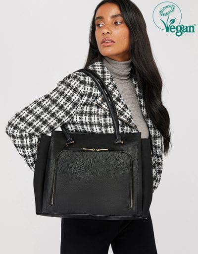 MILLIE VEGAN FAUX PADLOCK SHOULDER BAG