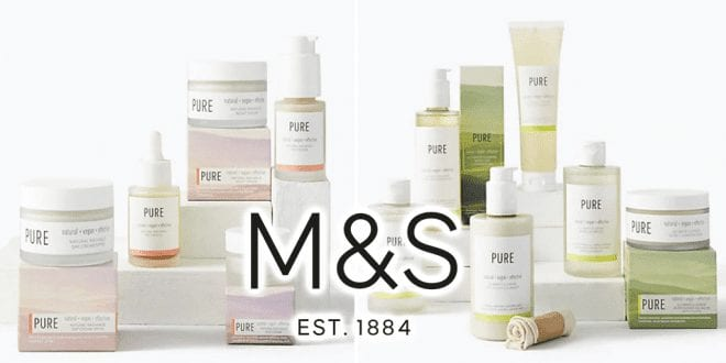 Marks & Spencer launches 'Pure' vegan cruelty-free skincare collection