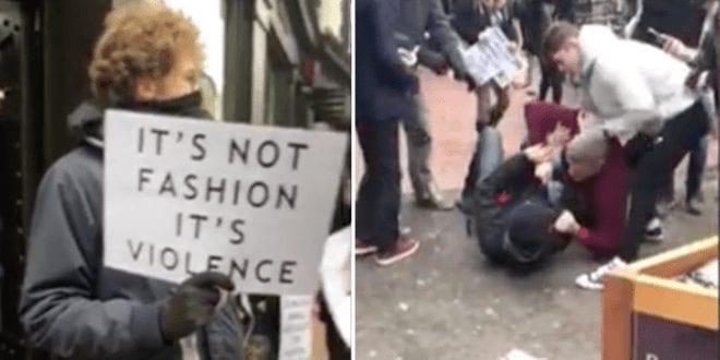 Brighton vegan activist attacked while protesting outside fur shop