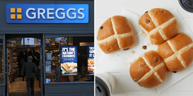 Greggs Hot cross buns