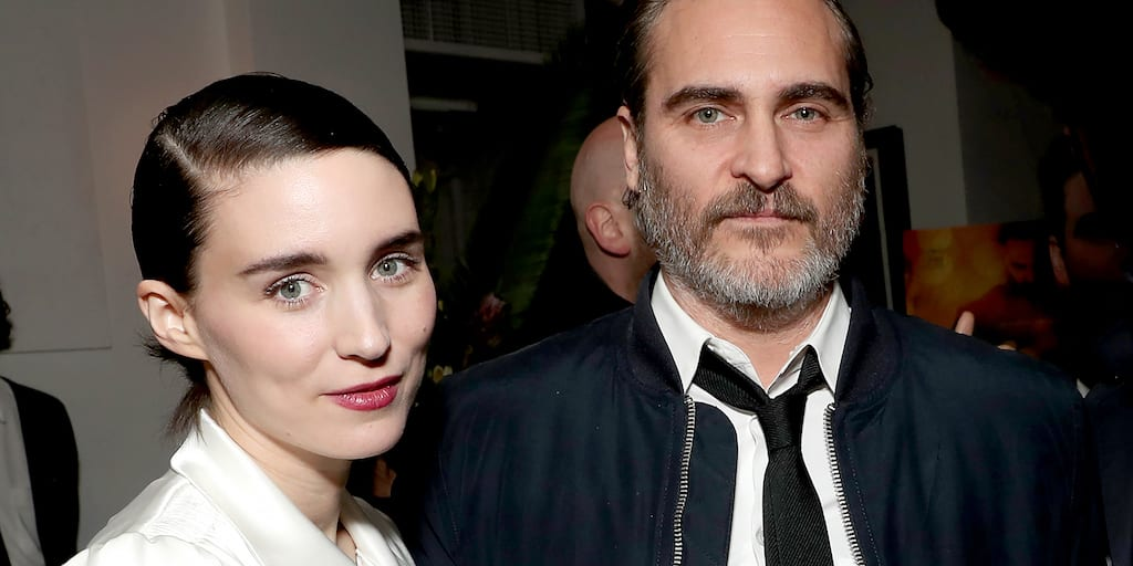 Joaquin Phoenix & Rooney Mara celebrated Oscar win