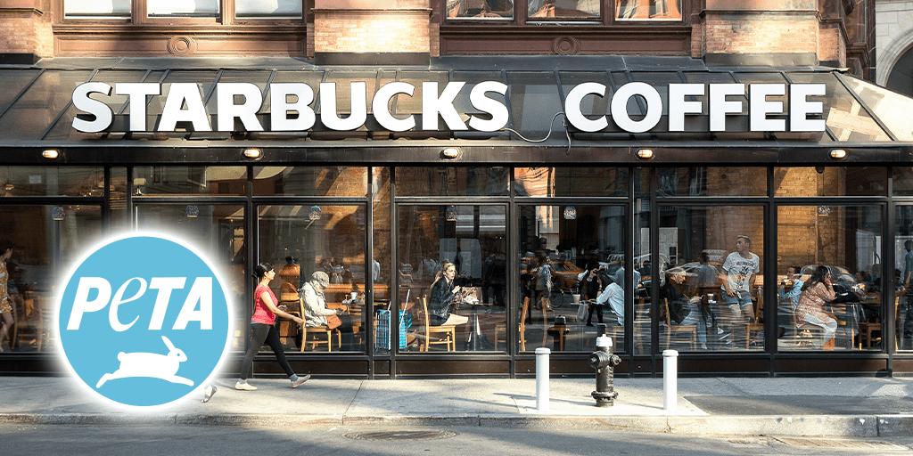 PETA organizes sit-ins to protest against Starbucks' unfair 'vegan tax'