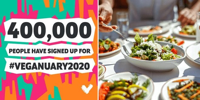 Veganuary 2020 inspires 400,000 to join the meat-free campaign