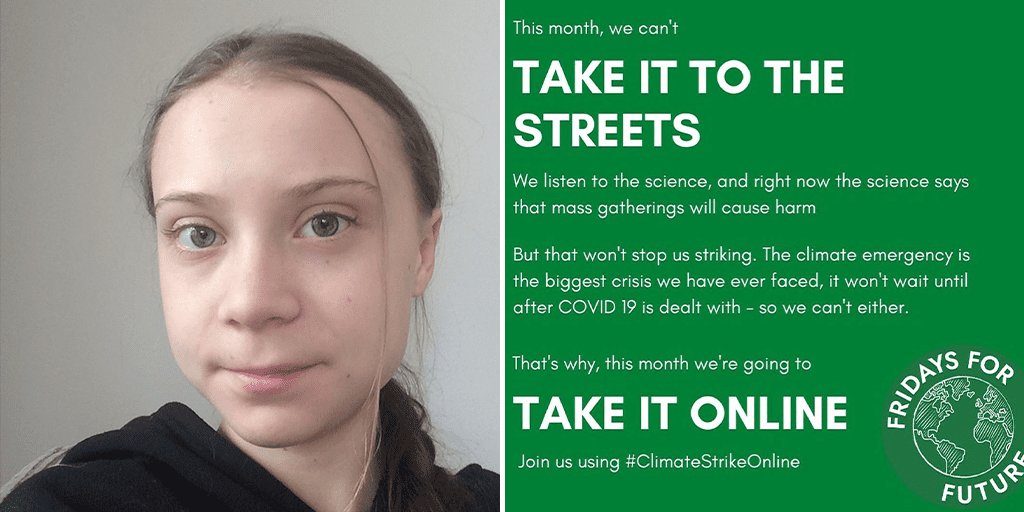 Greta Thunberg online strike