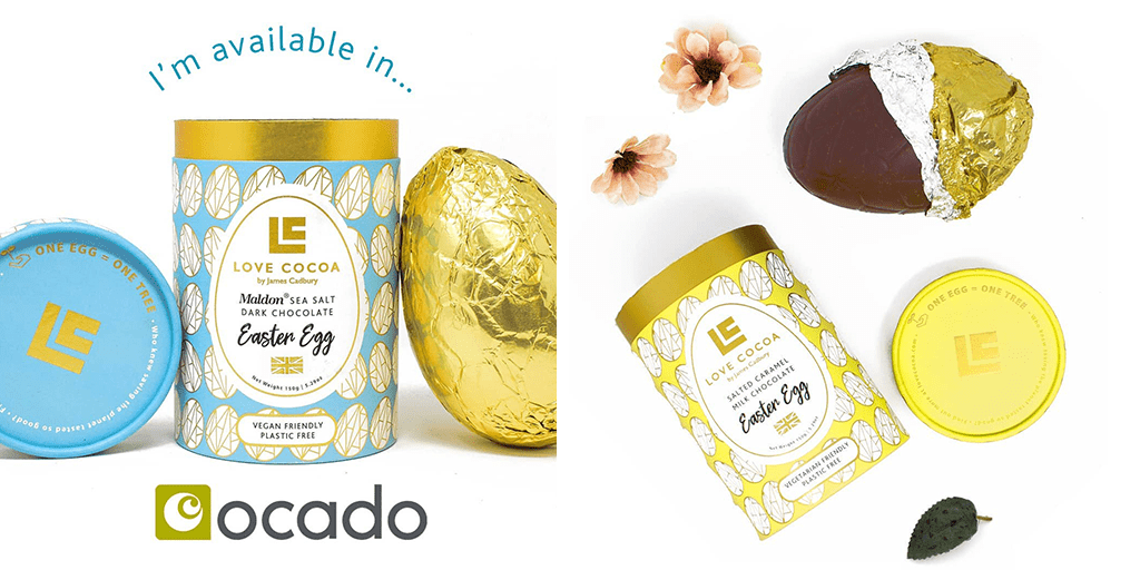 Love Cocoa launches its first vegan 'luxury' Easter egg in Ocado