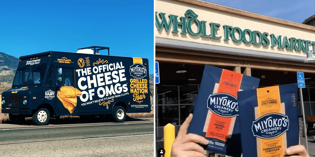 Miyoko's Creamery to give away thousands of vegan grilled cheese sandwiches on a 20-city tour