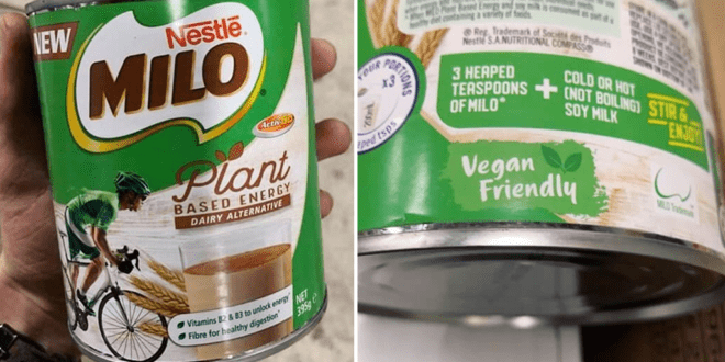 Nestle launches vegan version of its popular malted-chocolate MILO