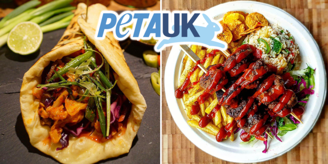 PETA lists the top 10 best vegan kebabs in the UK