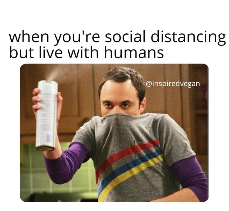 When you are social distancing