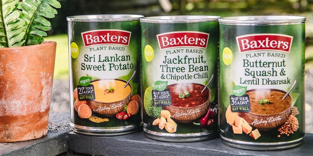 Baxters just launched its first vegan tinned soup range
