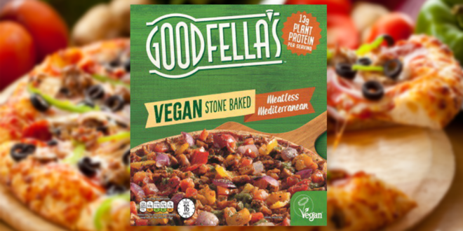 Goodfella's expands vegan range with new 'Meatless Mediterranean' pizza