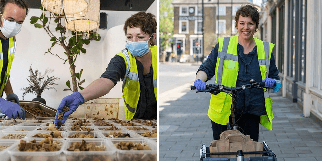 Olivia Colman helps vegan charity in delivering 100 meals to vulnerable stranded in Covid-19 crisis