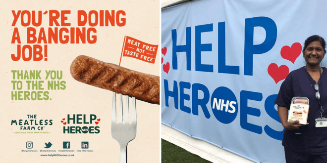 The Meatless Farm donates 20,000 vegan sausages to NHS workers fighting the COVID-19 pandemic