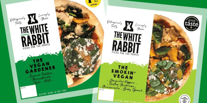 The White Rabbit launches frozen vegan pizza variants in Holland & Barrett stores across the UK