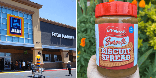 Aldi launches own brand version of Biscoff's vegan biscuit spread