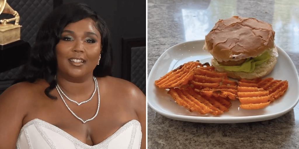 Make a spicy vegan McChicken sandwich at home with Lizzo 's viral TikTok tutorial