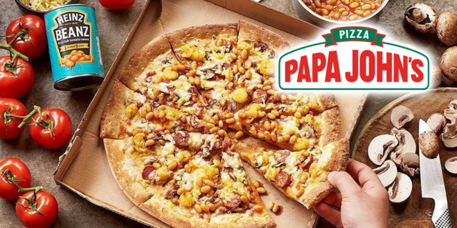 Papa John's is launching a vegan breakfast sausage pizza with Heinz beans