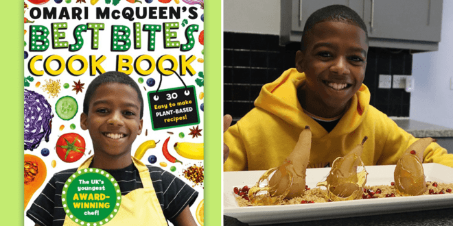 12-year-old entrepreneur and award-winning chef Omari McQueen to release vegan cookbook