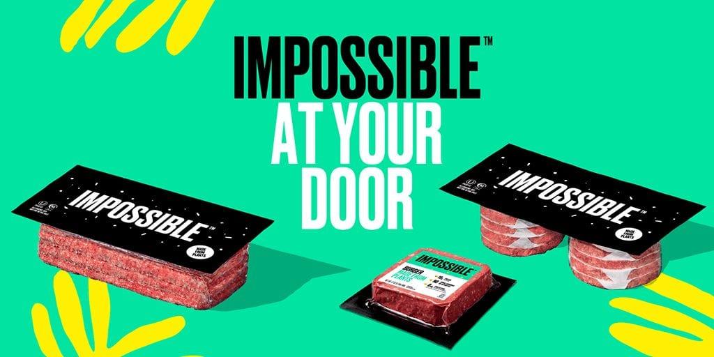 Impossible Foods' plant-based burger meat online