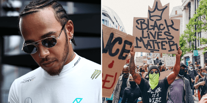 Lewis Hamilton urges people to 'keep pushing' for change at London Black Lives Matter protest