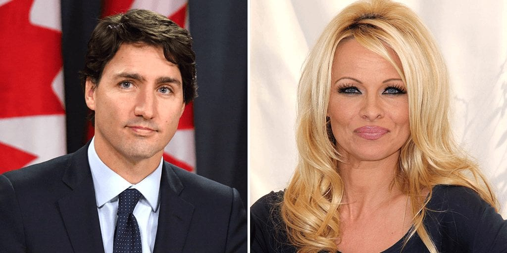 Pamela Anderson wants to be Justin Trudeau's vegan mentor