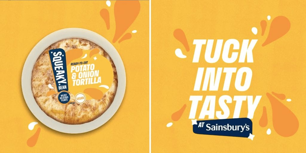 Squeaky Bean just launched UK's first mainstream Spanish inspired vegan tortilla at Sainsbury's