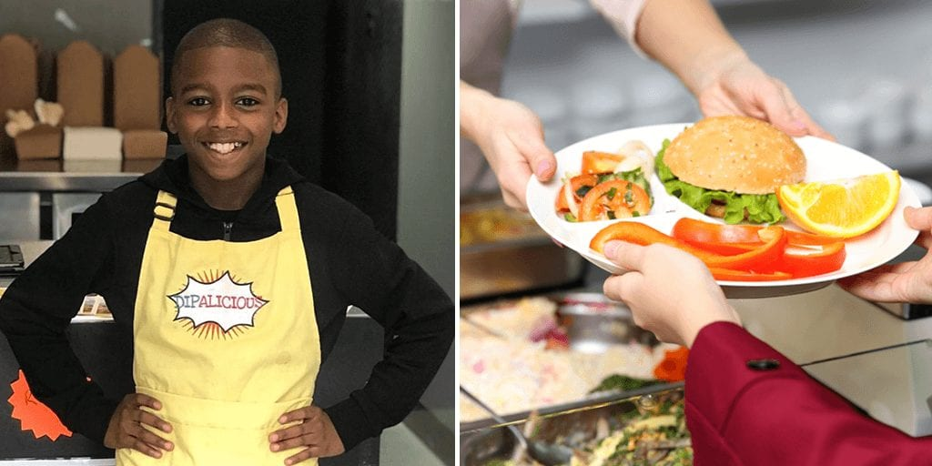 Britain's youngest vegan chef urges government to remove meat and dairy from school meals
