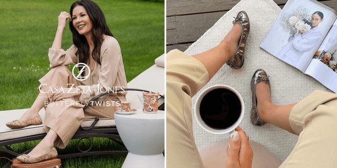 Catherine Zeta-Jones and Butterfly Twists just launched vegan ballerina flats