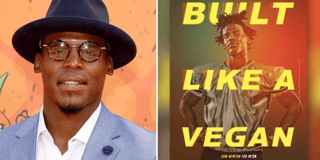 Patriots' Cam Newton says he's 'Vegan Strong' in PETA ad