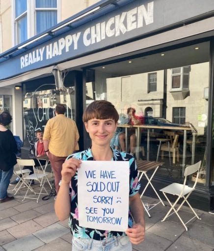 Brighton's first vegan fried chicken shop sells out in 4 hours on day one