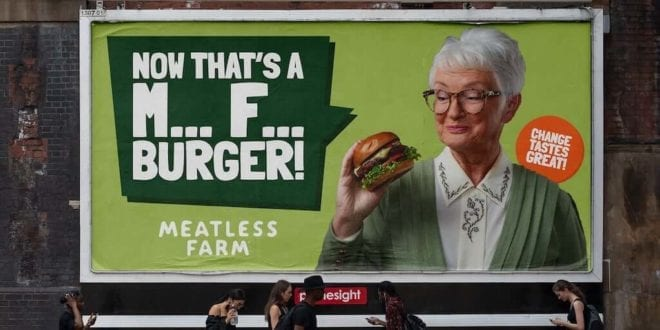 Vegan food brand Meatless Farm just released provocative 'M*** F***' campaign