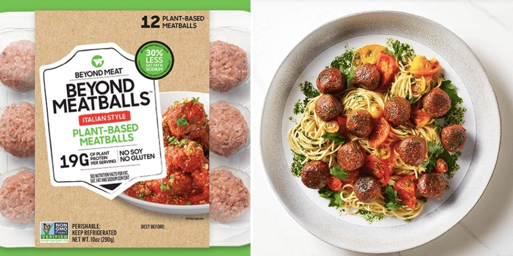 Beyond Meat just launched plant-based meatballs in grocery stores across the US