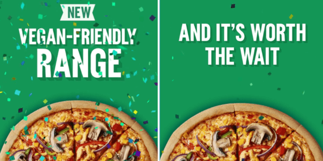 Domino's launches vegan pizzas across all U.K and ROI outlets