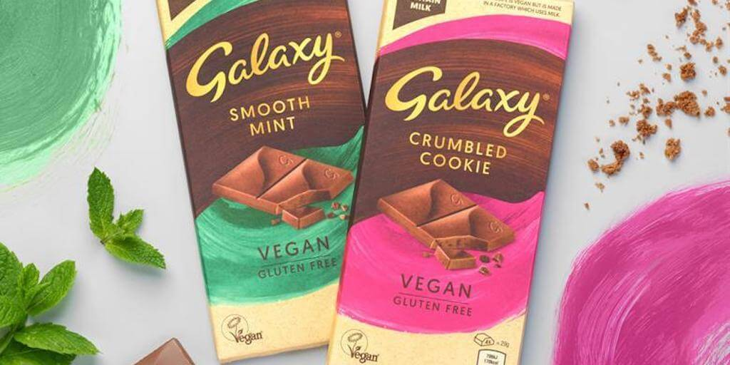 Galaxy expands vegan range with two more chocolate bars
